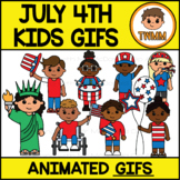 GIFs July 4th Kids US Independence Day l Animated Digital