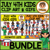 July 4th Kids - USA Independence Day l Clip Art & GIF Bund