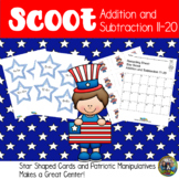 4th of July Activities Math Scoot Game for Addition and Su