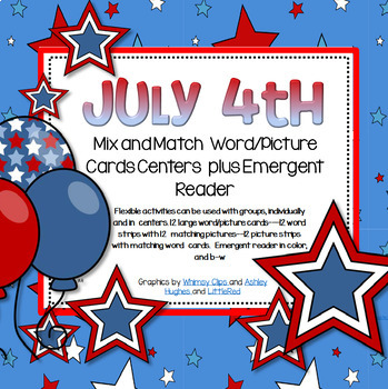 July 4th Mix and Match Vocabulary Cards