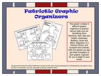 July 4th / Patriotic Graphic Organizers