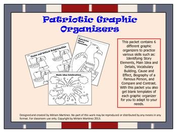 July 4th / Patriotic Graphic Organizers