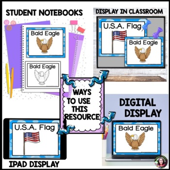 July 4th  Word Wall Cards