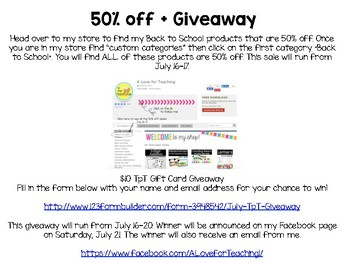 July 50% off BTS Sale + Giveaway!