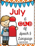 July: A Dab of Speech and Language