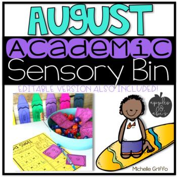 August Academic Sensory Bin