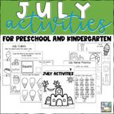 July Activities for Preschool and Kindergarten