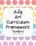July Art Curriculum Framework FREEBIE!