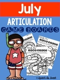 July Articulation Game Boards