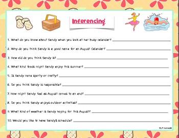 July & August Calendar Activities