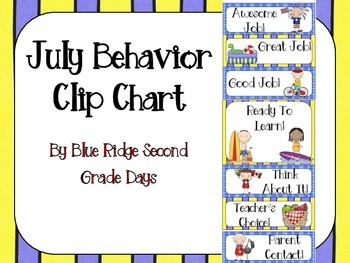 July Behavior Clip Chart