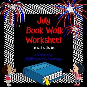 July Book Walk Worksheet