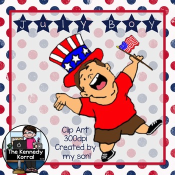 Clipart: July Boy