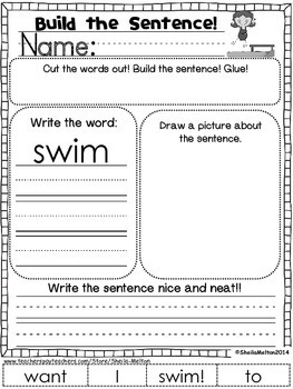 July Build the Sentence