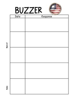 Buzzer Packet JULY (Bell Work-Journal) Common Core Writing Prompts