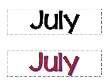 July Calendar Cards- Melonheadz Style