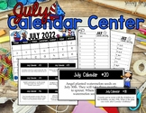 July Calendar Center Task Cards