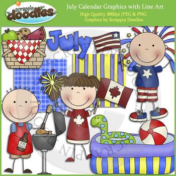 July Calendar Graphics