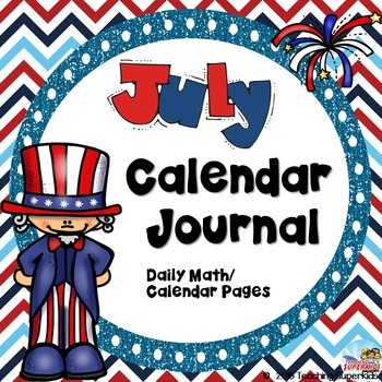 July Calendar Journal Activities