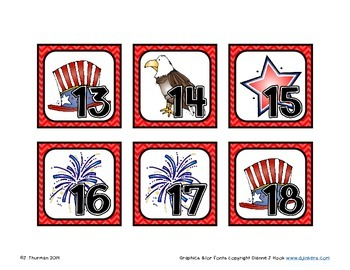 July Calendar Numbers AABCD Pattern