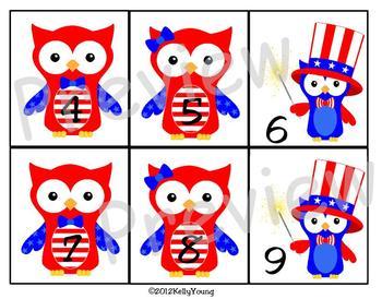 July Calendar Owls
