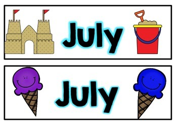 July Calendar Pieces
