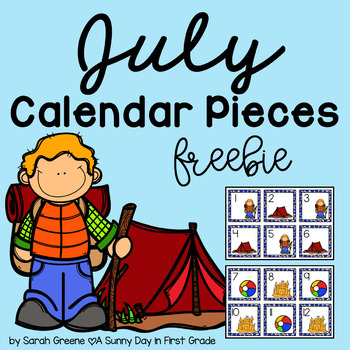 July Calendar Pieces {freebie sampler!}