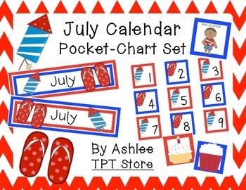 July Calendar Set