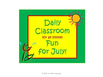 July Classroom Activities and Fun for Summer School or Home 140 ideas