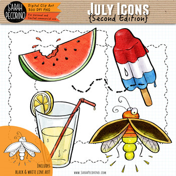 July Clip Art {Second Edition}