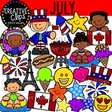 July Clipart {Creative Clips Clipart}