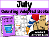 July Counting Adapted Books {set of 5 books) Print and Digital