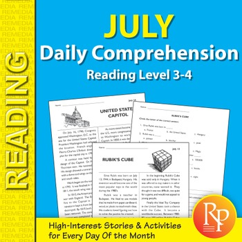 July: Daily Comprehension