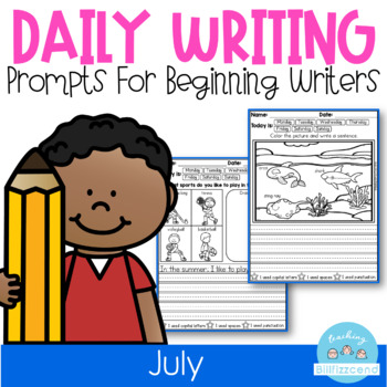 July Daily Writing Prompts (Summer Writing Activities)