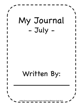 July-December Journal Pages