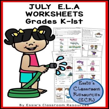 July E.L.A. Worksheets
