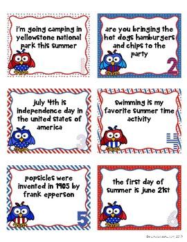 July ELA Skill Cards