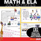 July ELA and Math Activities