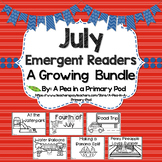 July Emergent Readers and Response Activities