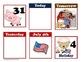 July Farm Themed Pocket Chart Calender Cards