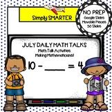 July First Grade Digital Daily Math Talks For GOOGLE SLIDES