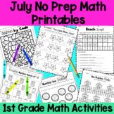 July First Grade No Prep Math Packet
