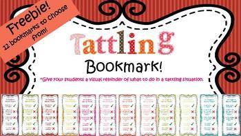 July Freebie!- Tattling Bookmark