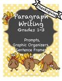 Thanksgiving Paragraph Writing, Grades 1, 2, 3,
