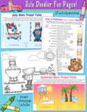 July Fun Pages - Coloring and Activity Download - Distance
