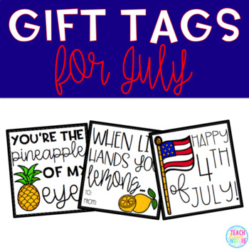 July Gift Tags