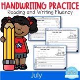 July Handwriting Practice