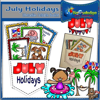 July Holidays Interactive Foldable Booklet