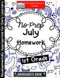 July Homework Packet: 1st Grade