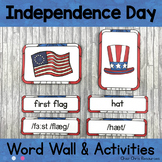July - Independence Day - Word Wall Words and Puzzle Activity - Vocabulary